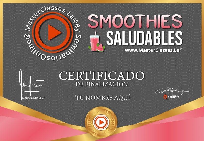 Certificado de Smoothies Saludables
