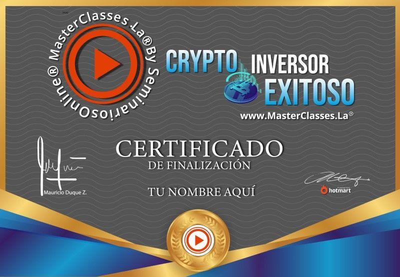 Certificado de Crypto Inversor Exitoso