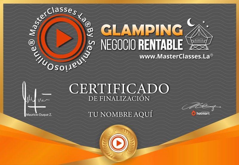 Certificado de Glamping Negocio Rentable