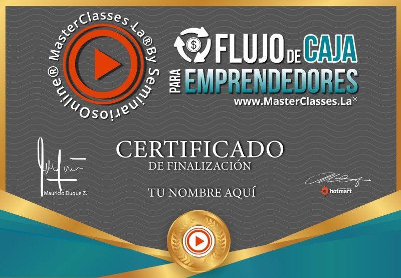 Certificado de Flujo de Caja Emprendedores