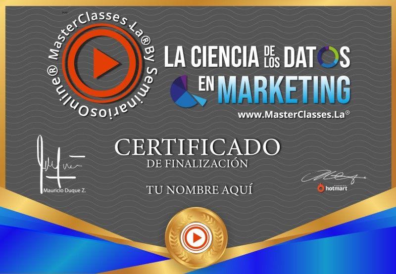 Certificado de La Ciencia de los Datos en Marketing