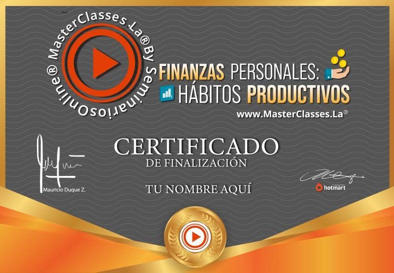 Certificado de Finanzas Personales - Hábitos Productivos