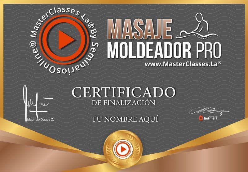 Certificado de Masaje Moldeador Pro