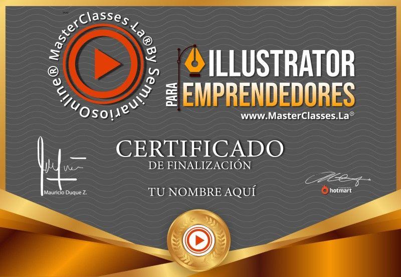 Certificado de Illustrator para Emprendedores