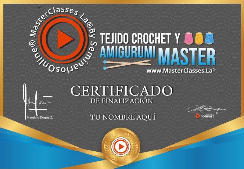 Certificado de Tejido Crochet y Amigurumi Master