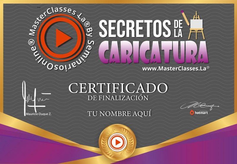 Certificado de Secretos de la Caricatura