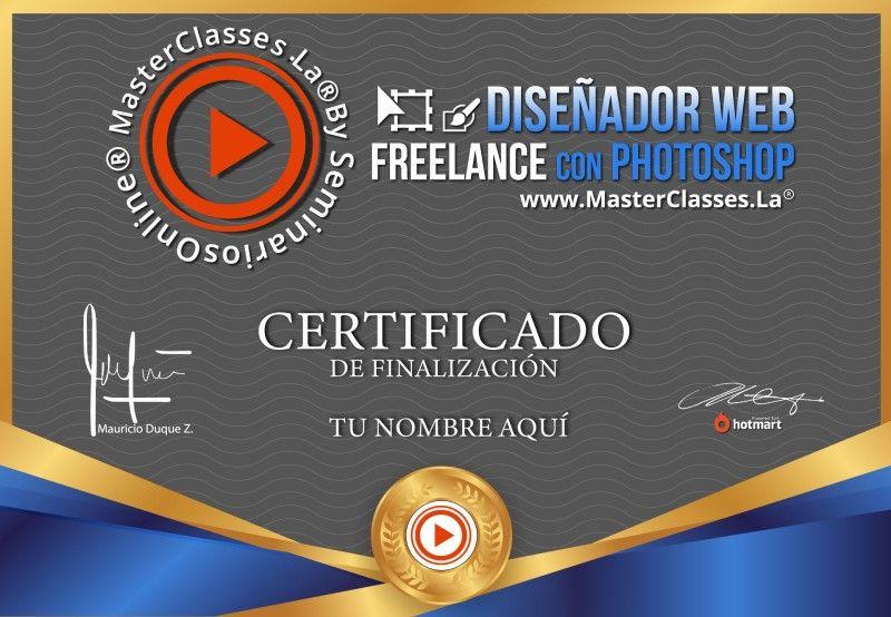 Certificado de Diseñador Web Freelance con Photoshop