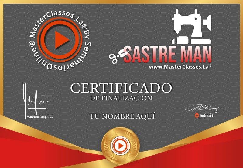 Certificado de Sastre Man
