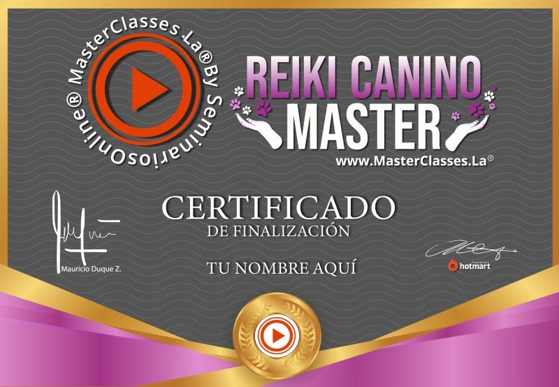Certificado de Reiki Canino Master