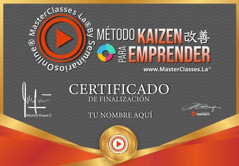 Certificado de Método Kaizen para Emprender