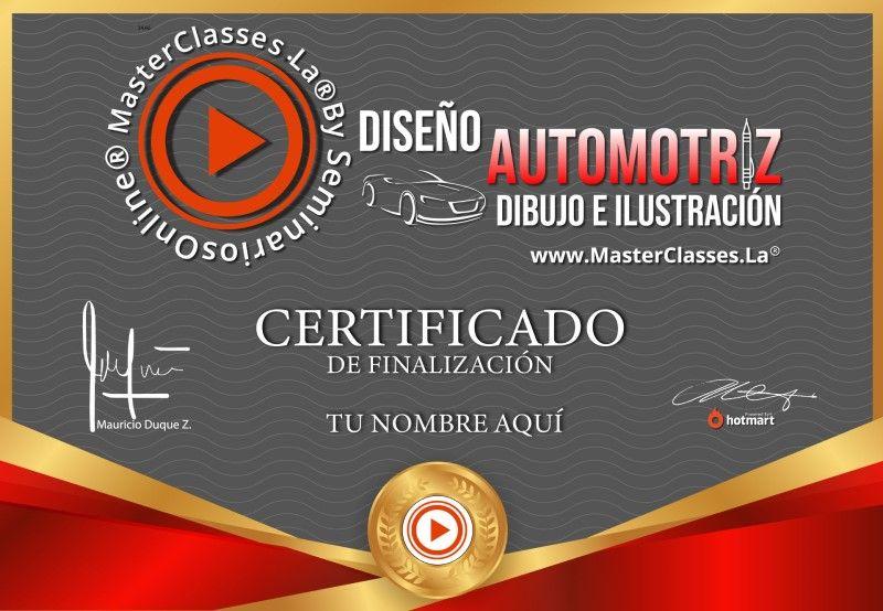 Certificado de Diseño Automotriz - Dibujo e ilustración