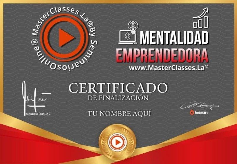 Certificado de Mentalidad Emprendedora