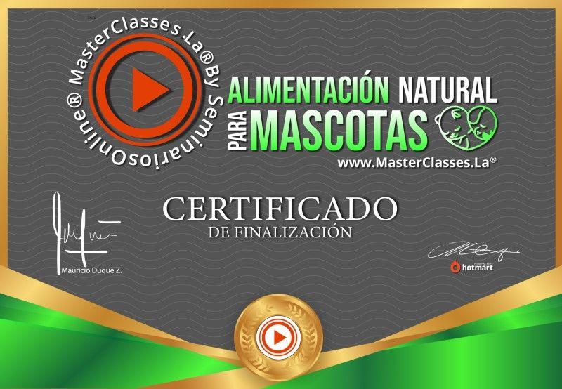 Certificado de Alimentación Natural para Mascotas