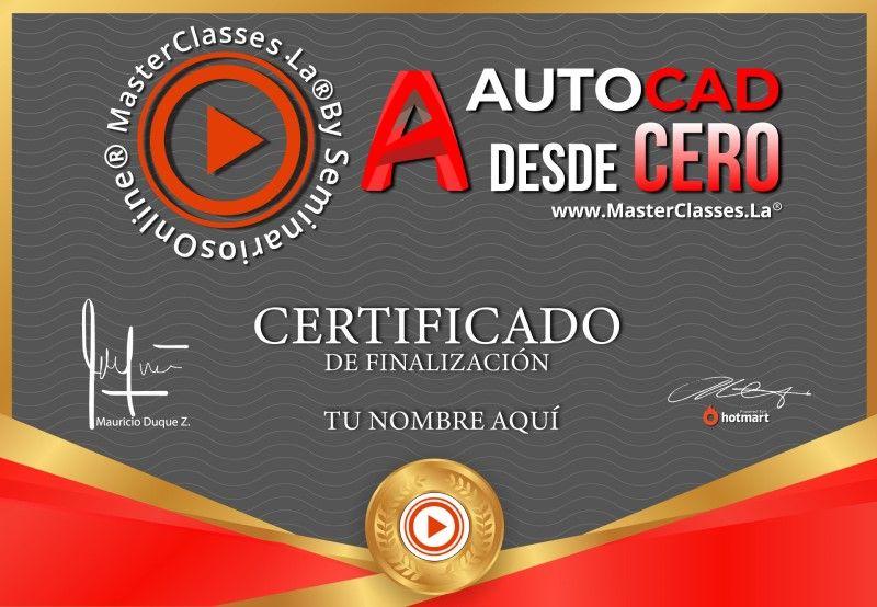 Certificado de AutoCad desde Cero