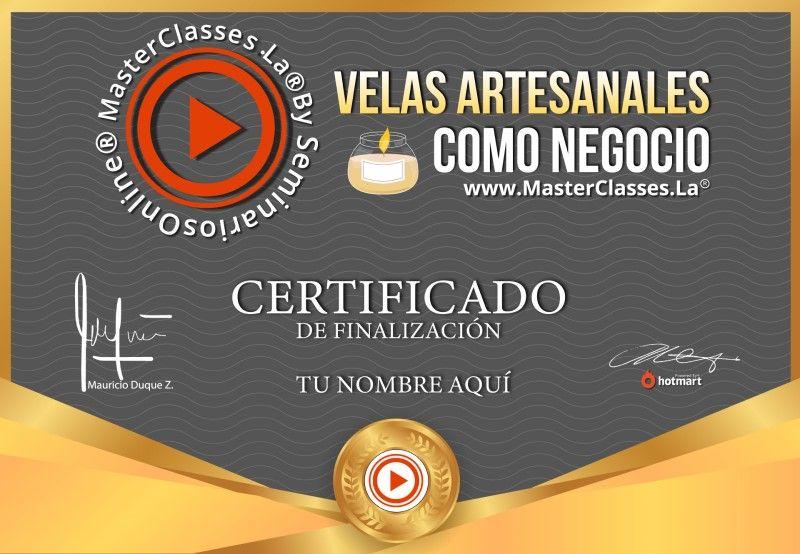 Certificado de Velas Artesanales como Negocio