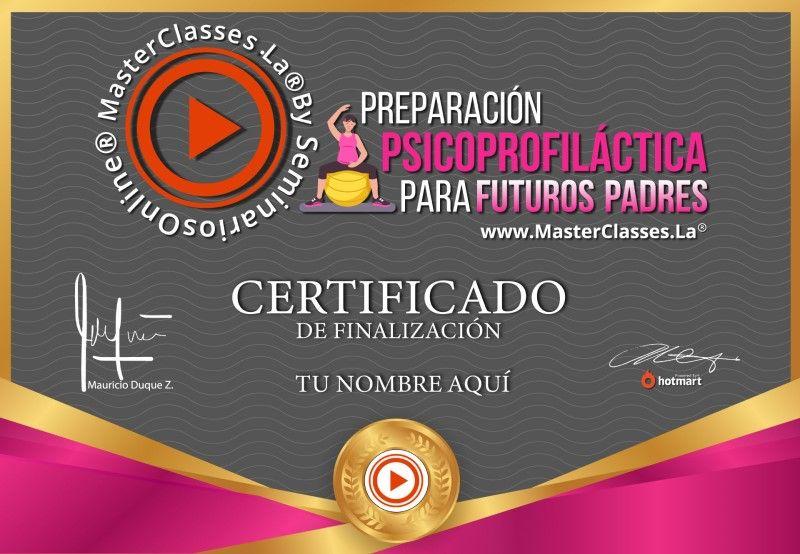 Certificado de Preparación Psicoprofiláctica para Futuros Padres
