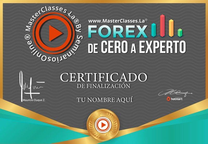 Certificado de Forex de Cero a Experto