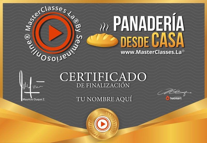 Certificado de Panadería desde Casa