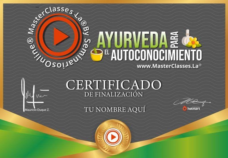 Certificado de Ayurveda para el Autoconocimiento