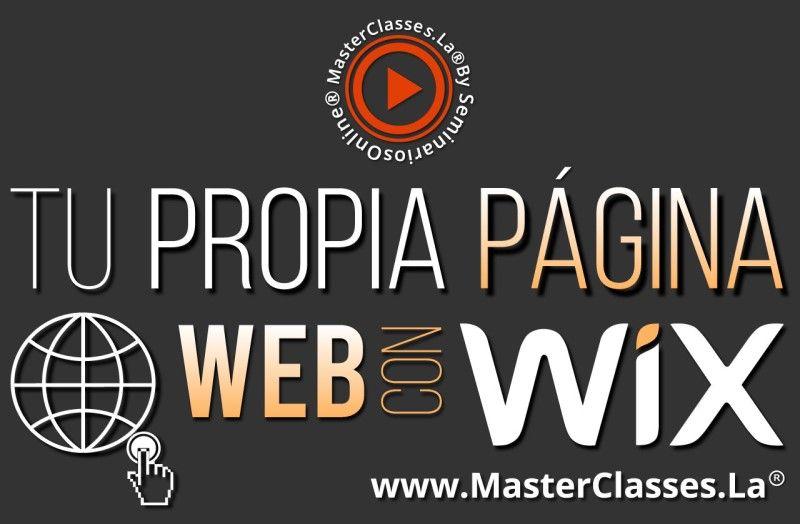 MasterClass Tu Propia Página Web con Wix