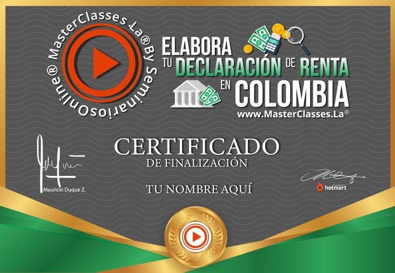Certificado de Elabora tu Declaración de Renta en Colombia